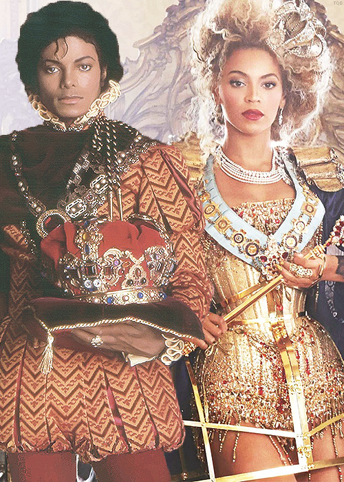 I saw this and Loved it!! King MJ and Queen Bey