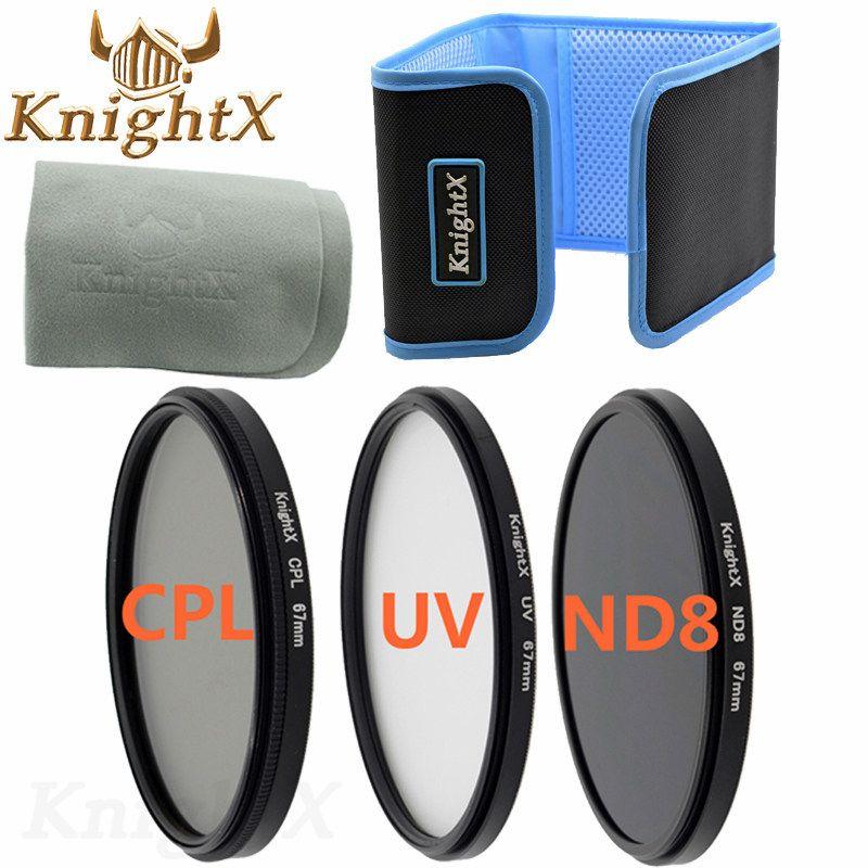 KnightX 49 77mm FLD UV CPL MC UV ND Filter Kit for Nikon canon d7100 T5 T5I 300D 600D D7200 D5300 D3200 D3100 d3300 100d 1200D