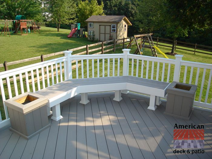 Azek Decking Low Maintenance Azek Decking Bench And Planters