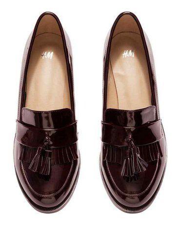 taille 40 72238 0b1dd H&M Mocassins Vernis | Mocassin vernis, Chaussure et ...