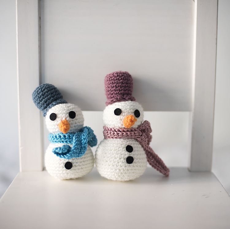 Snowman - Free Amigurumi Pattern below Spanish pattern here: http ...