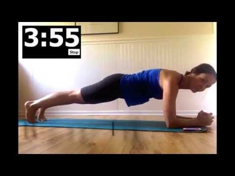 5 min Plank Workout with timer - YouTube