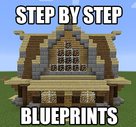 Get step by step blueprints for this house plus a bunch more get step by step blueprints for this house plus a bunch more minecraft blueprints by malvernweather Images