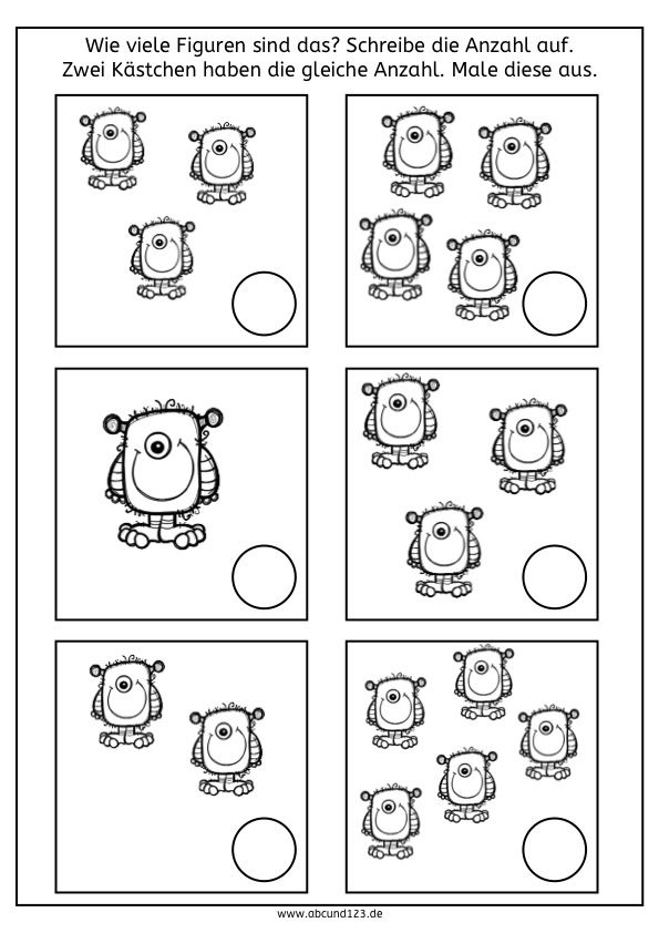 Simultanerfassung | Kindergarten, Math and Math worksheets