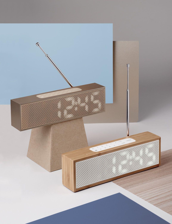 Lexon Titanium Clock Radio Design Adrian Jeremy