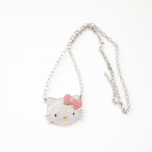 Hello Kitty Necklace Hello Kitty rhinestone necklace. So cute. Excellent condition. Hello Kitty Jewelry Necklaces