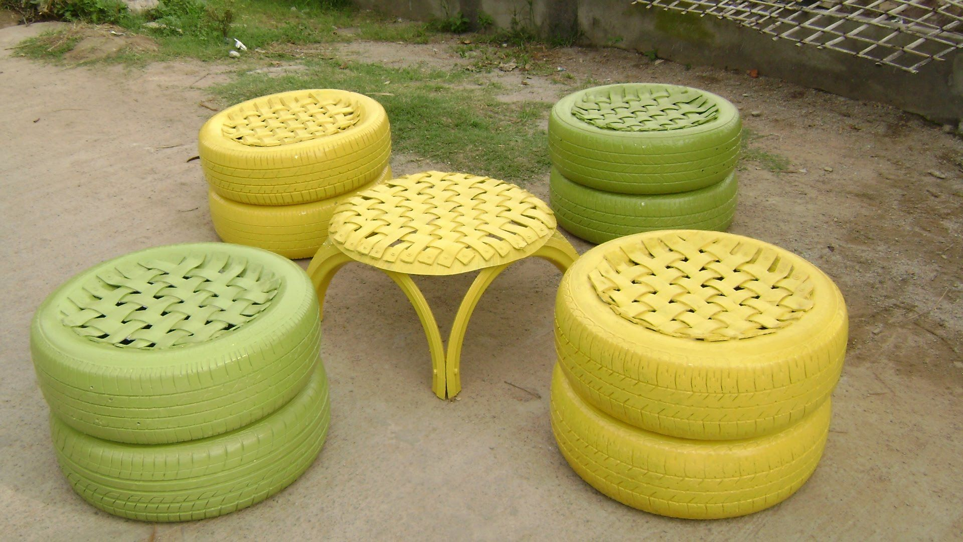 Recycled tyre furniture youtube paul pinterest for How to make tire furniture