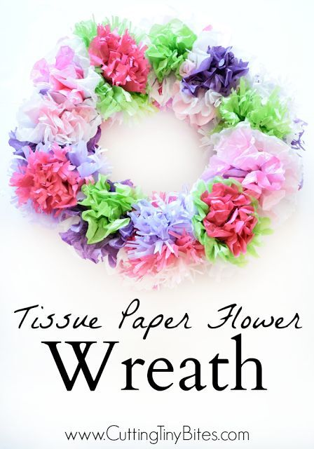 Tissue Paper Flower Wreath Diy And Crafts Pinterest Paper