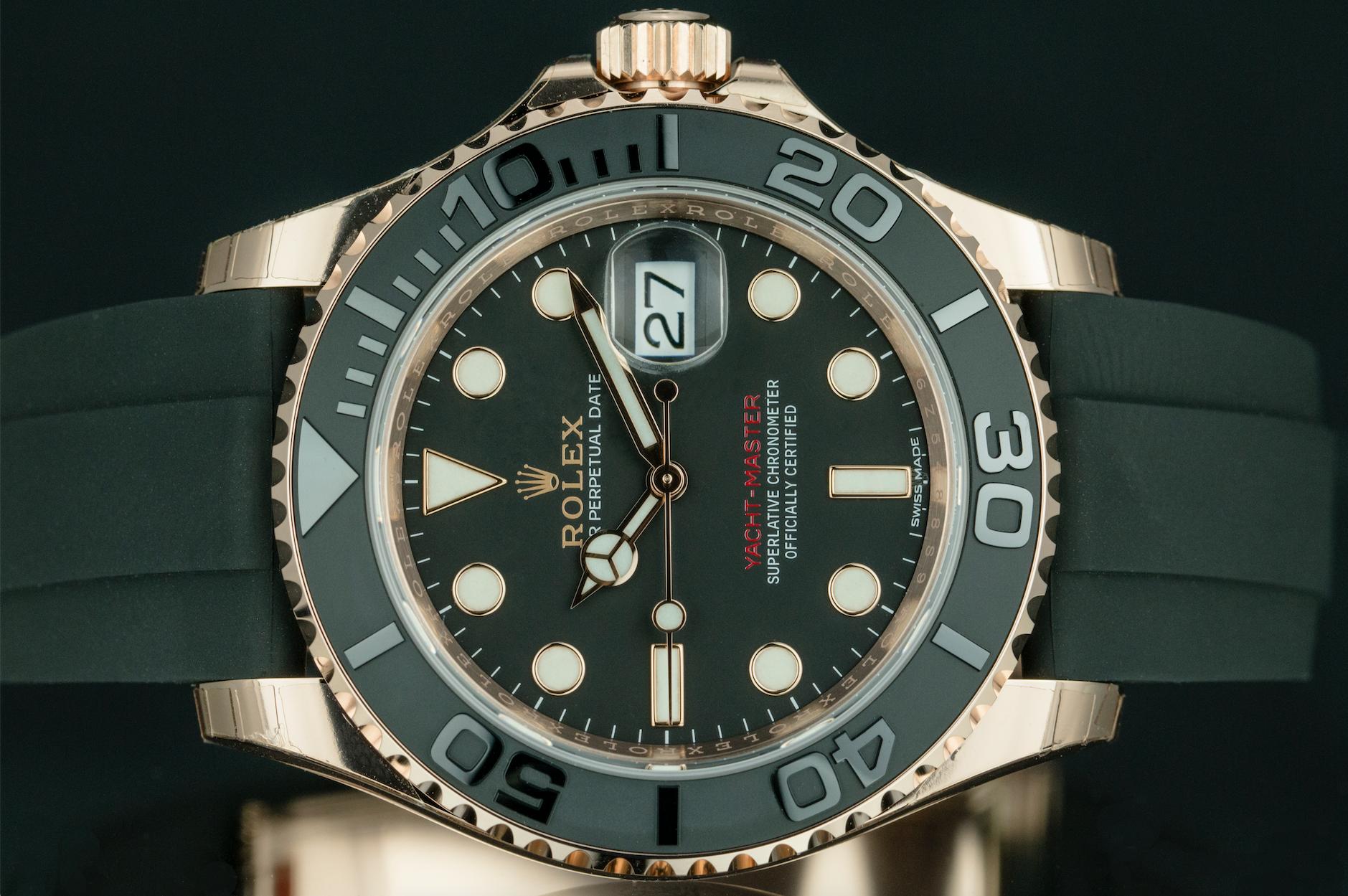 Rolex Yacht Master 18k Gold Oyster Flex Band Rolex Best Watches For Men Luxury Watches For Men