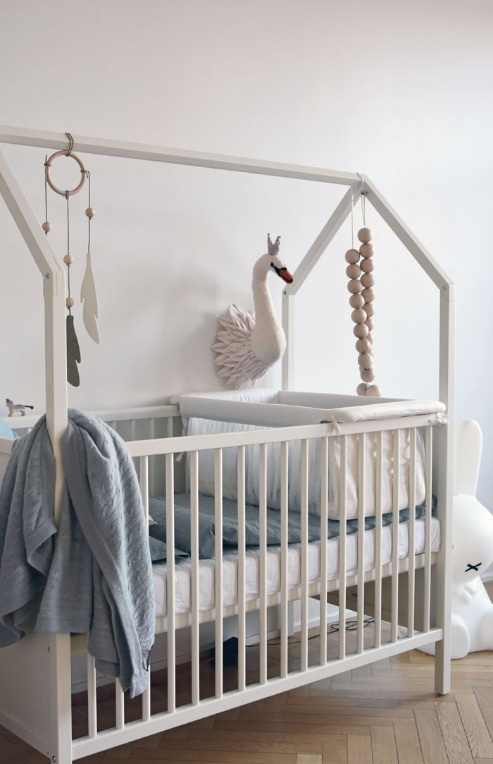 Stokke - the house frame bed trend translated for a white gender neutral crib