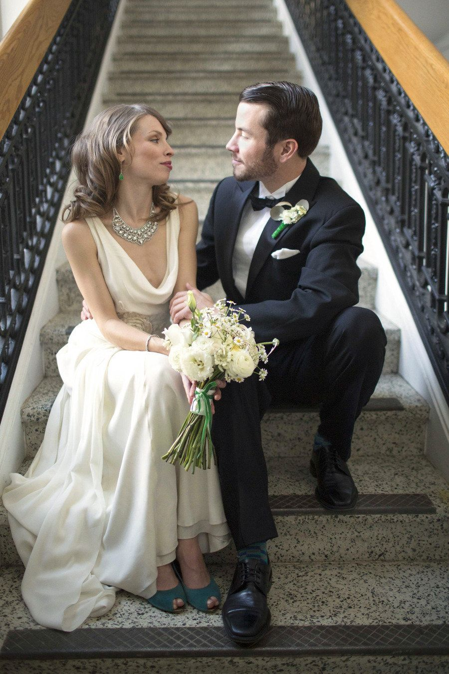 Emerald wedding dress   Emerald Inspired Photo Shoot from Rachel Gomez Photography