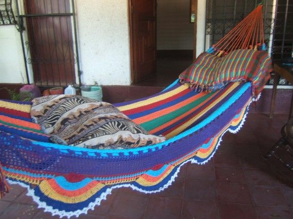 Medium image of beautiful hand made hammock plus one custom tag from nicaragua