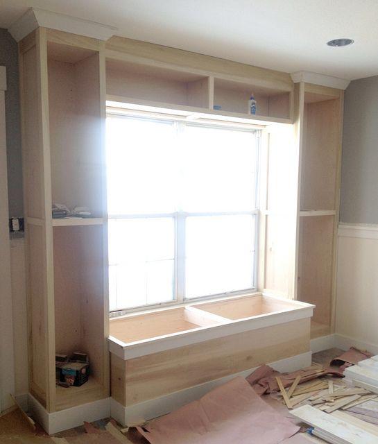 Brilliant Built In Bookcase And Window Seat For The Office Home Inzonedesignstudio Interior Chair Design Inzonedesignstudiocom