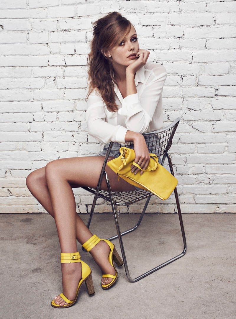 #yellow Frida Gustavsson Fronts Tiger of Swedens Spring 2013 Campaign