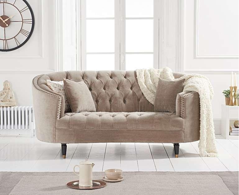 Pleasant Seine Mink Velvet 2 Seater Sofa Home Decor In 2019 2 Spiritservingveterans Wood Chair Design Ideas Spiritservingveteransorg