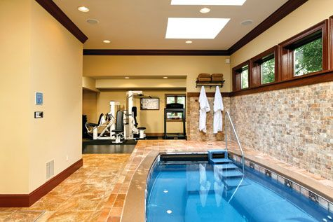 luxury home gym with pool   decors modern decoration