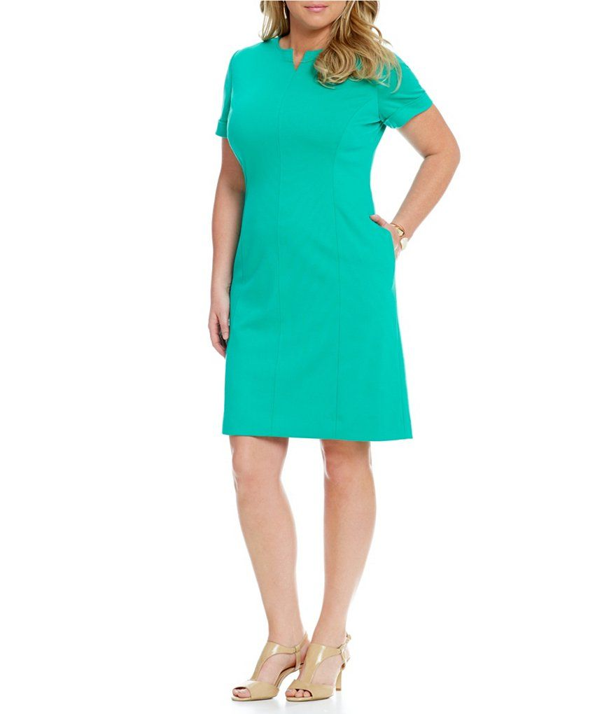 Ponte Dress with pockets / size 4 -18 / bright summer green ...