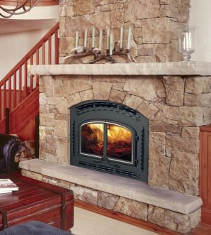 Wood Burning Fireplace Hearths And Mantles Wood