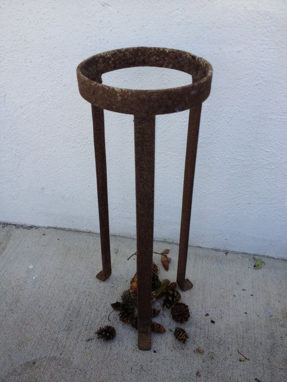 Pleasant Tall Iron Rust Plant Stand Antique Planter Large By Lamtechconsult Wood Chair Design Ideas Lamtechconsultcom