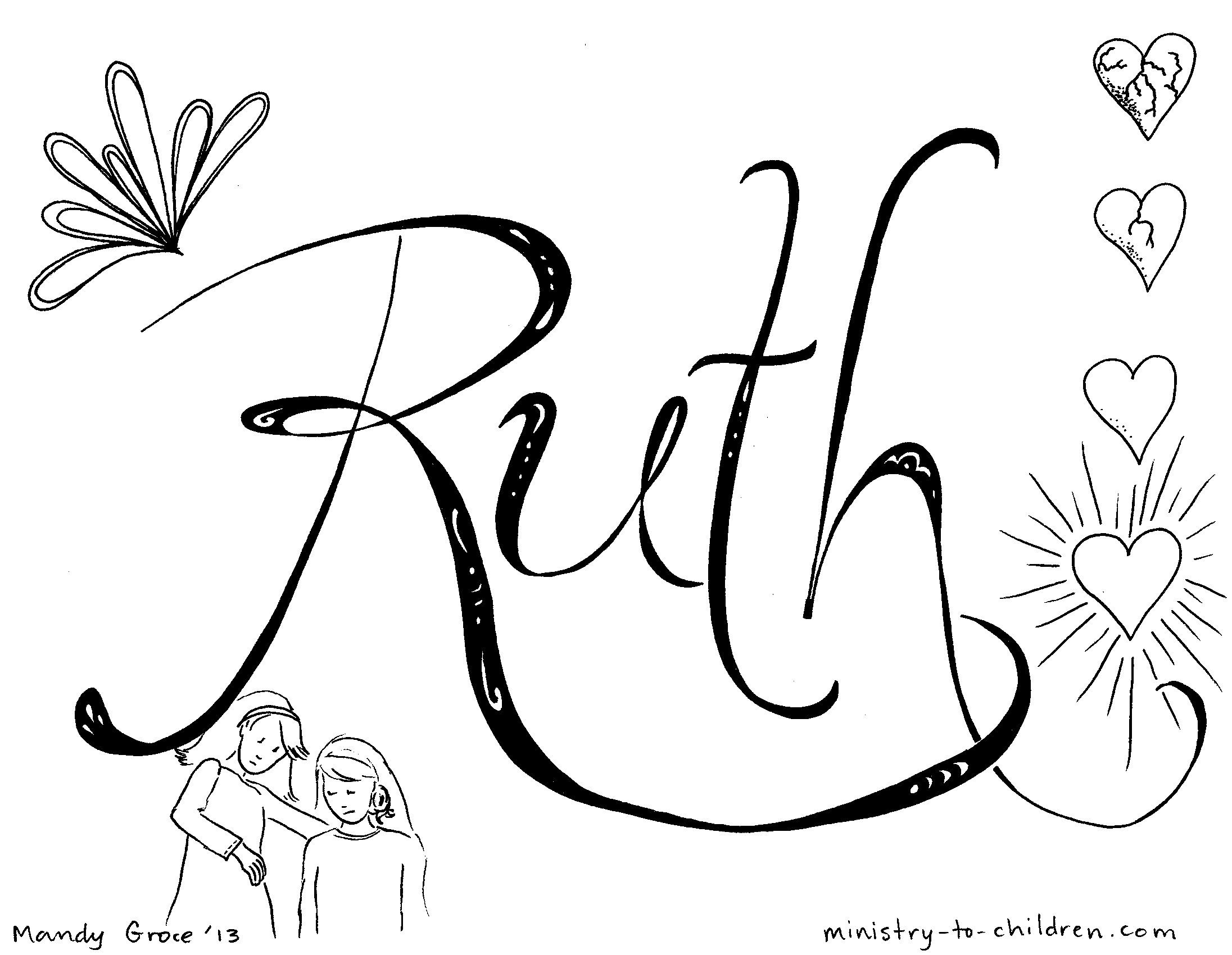 Lesson Ruth Is Faithful Bible Coloring Page