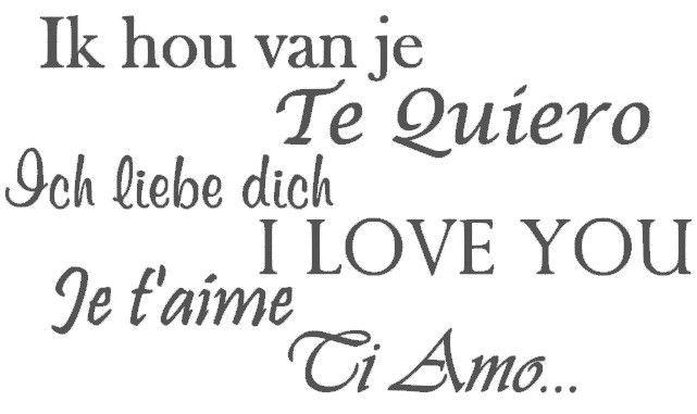 Ik hou van je (verschillende talen)