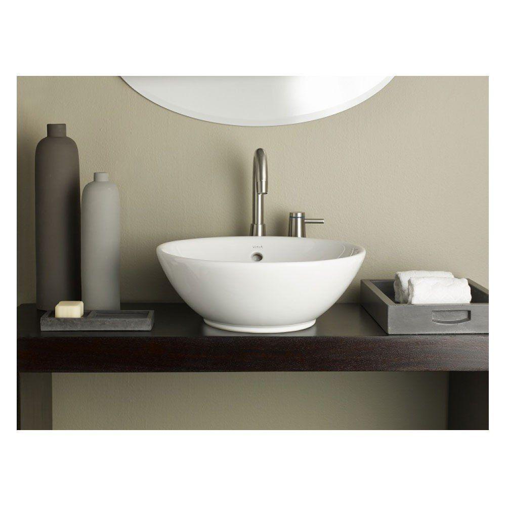 Cheviot Water Lily Round Overcounter Bath Sink Master
