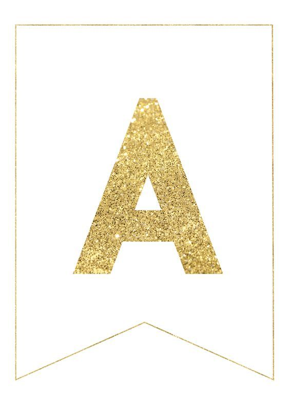 Gold Free Printable Banner Letters | Paper Trail Design