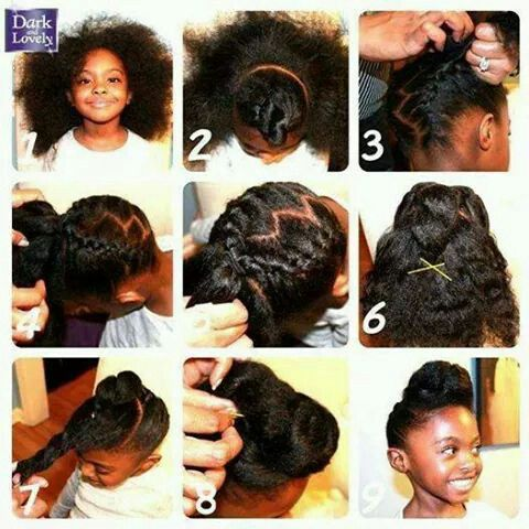 Versatile updo for natural hair