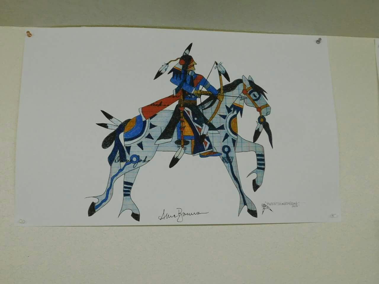 war pony as seen through the heart of hunk-papa sioux artist Butch Thunderhawk