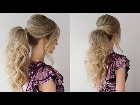 How To High Ponytail New Years Ever Hairstyle 2018 Youtube