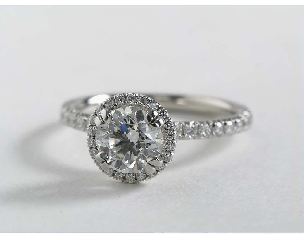 halo engagement rings build a wedding ring 1 Carat Diamond Blue Nile Studio Heiress Halo Diamond Engagement Ring Blue Nile Engagement Rings