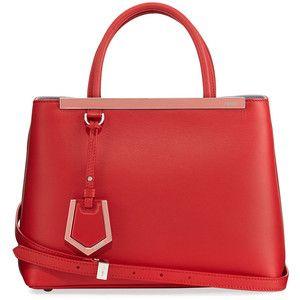 Fendi 2Jours Two-Tone Leather Satchel Bag 2S3KUG6g9U
