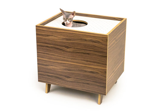 LAST CHANCE Only 40 Left Mid Century Modern Cat Litter Box Unique Decorative Litter Boxes For Cats