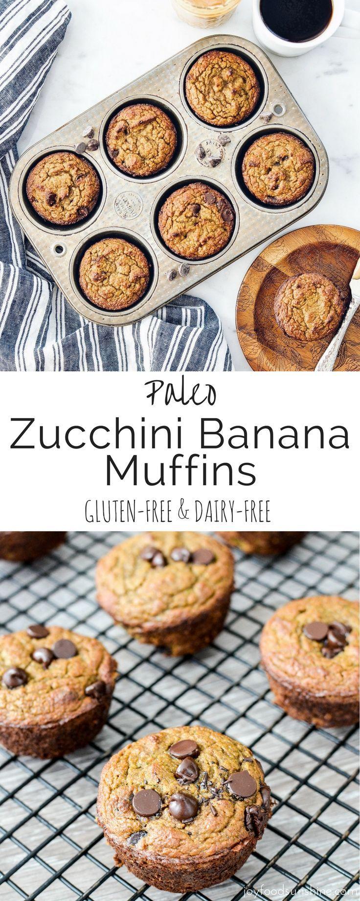Paleo Zucchini Banana Muffins! The perfect healthy breakfast