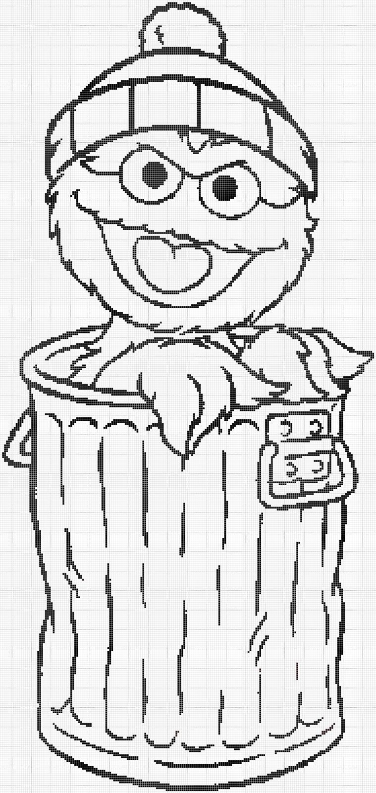 Sesame Street Oscar The Grouch Charts Christmas Too Sesame