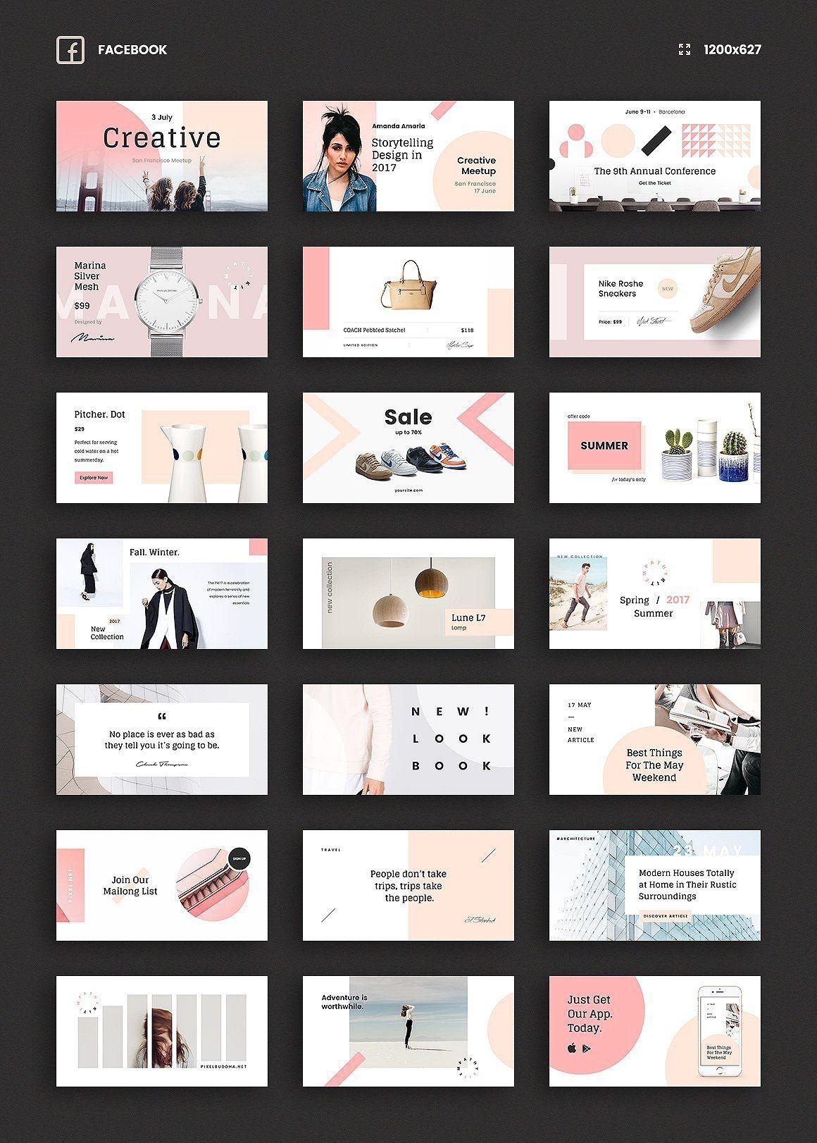 Epic social media bundle template post design also rh pinterest