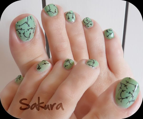 Cute Toenail Designs | Pedicures, Floral and Pedi