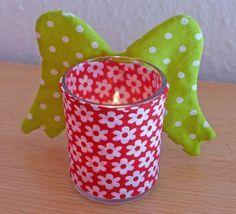 Teelichthalter aus Stoff und Papier » BERNINA Blog