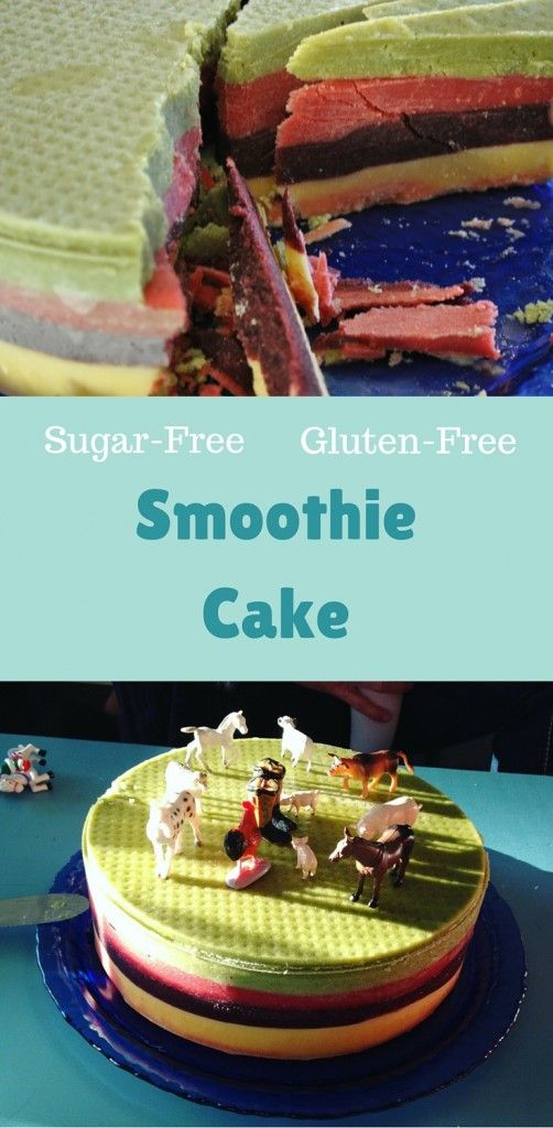 Smoothie Cake Sugar Free Gluten Free Vegan Birthday Cake
