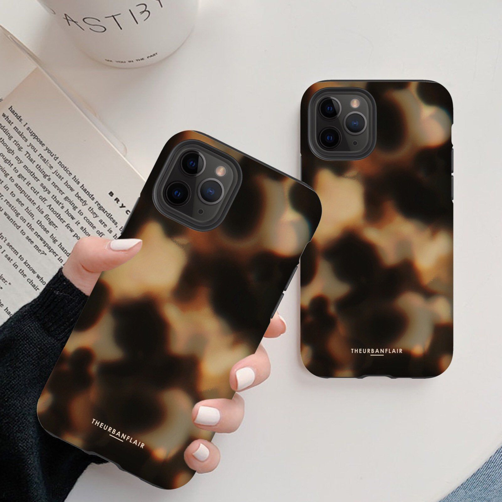 Tortoise shell print phone case for iphone 11 pro max xr
