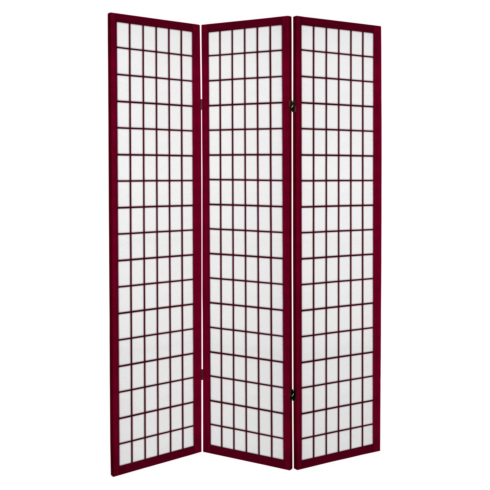 Oriental Furniture Canvas Window Pane Room Divider Panel Room