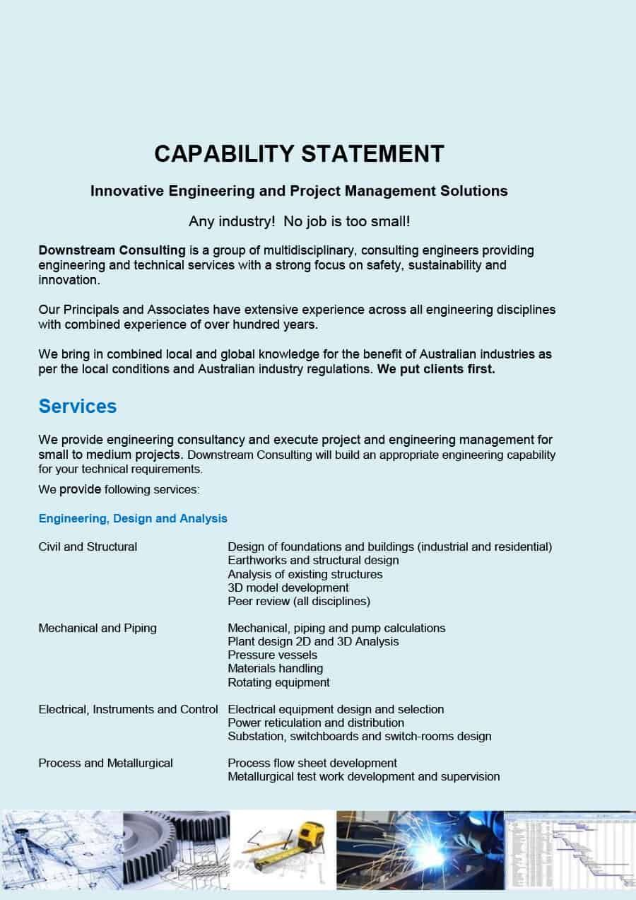 39 Effective Capability Statement Templates Examples ᐅ Inside Capability Statement Template Statement Template Invoice Template Word Professional Templates
