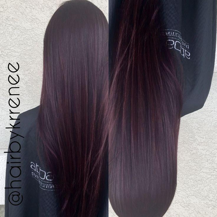 dark brunette hair with subtle purple tint - Google Search | Dark ...