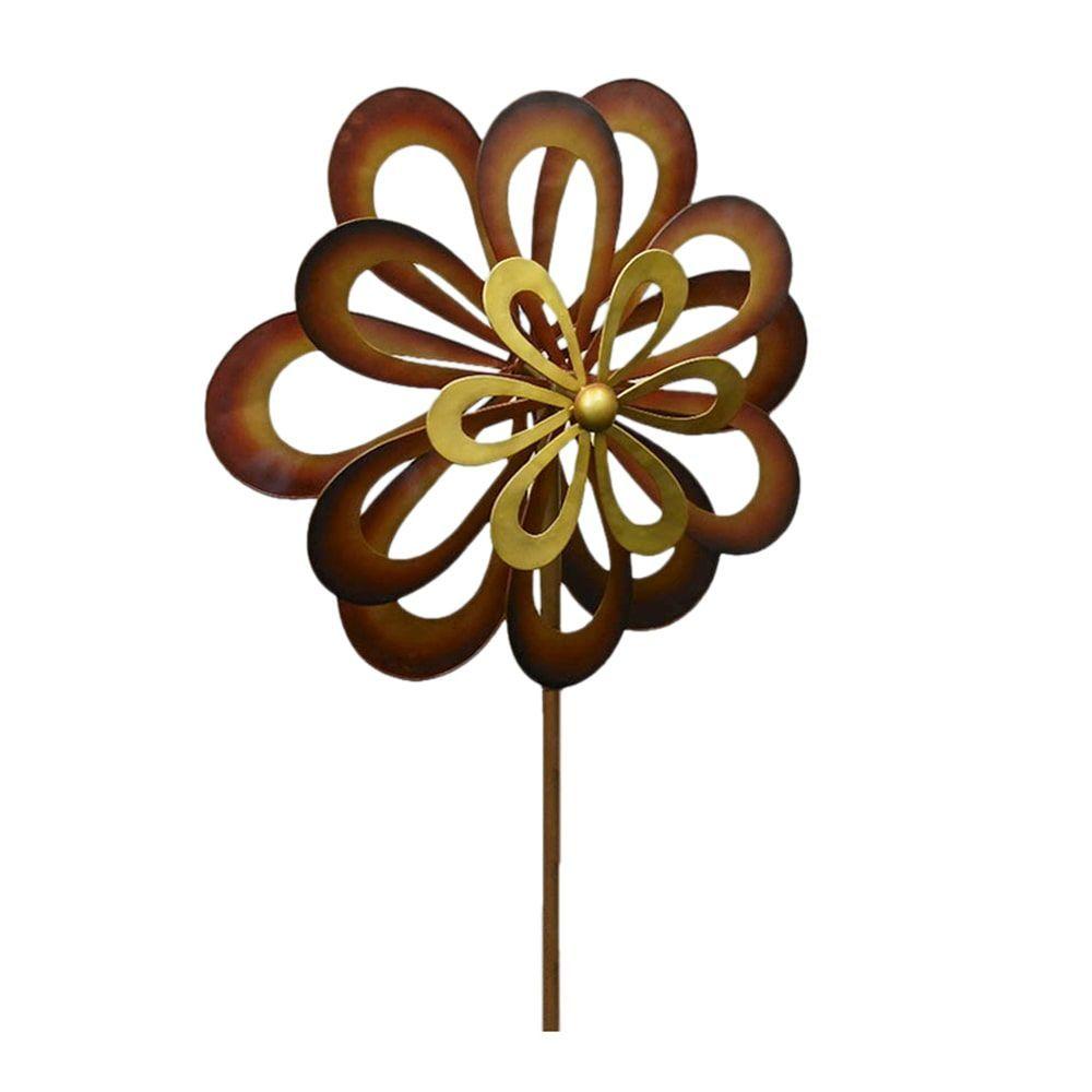 Koehler home decor dancing daisy garden windmill garden spinner koehler home decor dancing daisy garden windmill garden spinner windmill brown iron izmirmasajfo