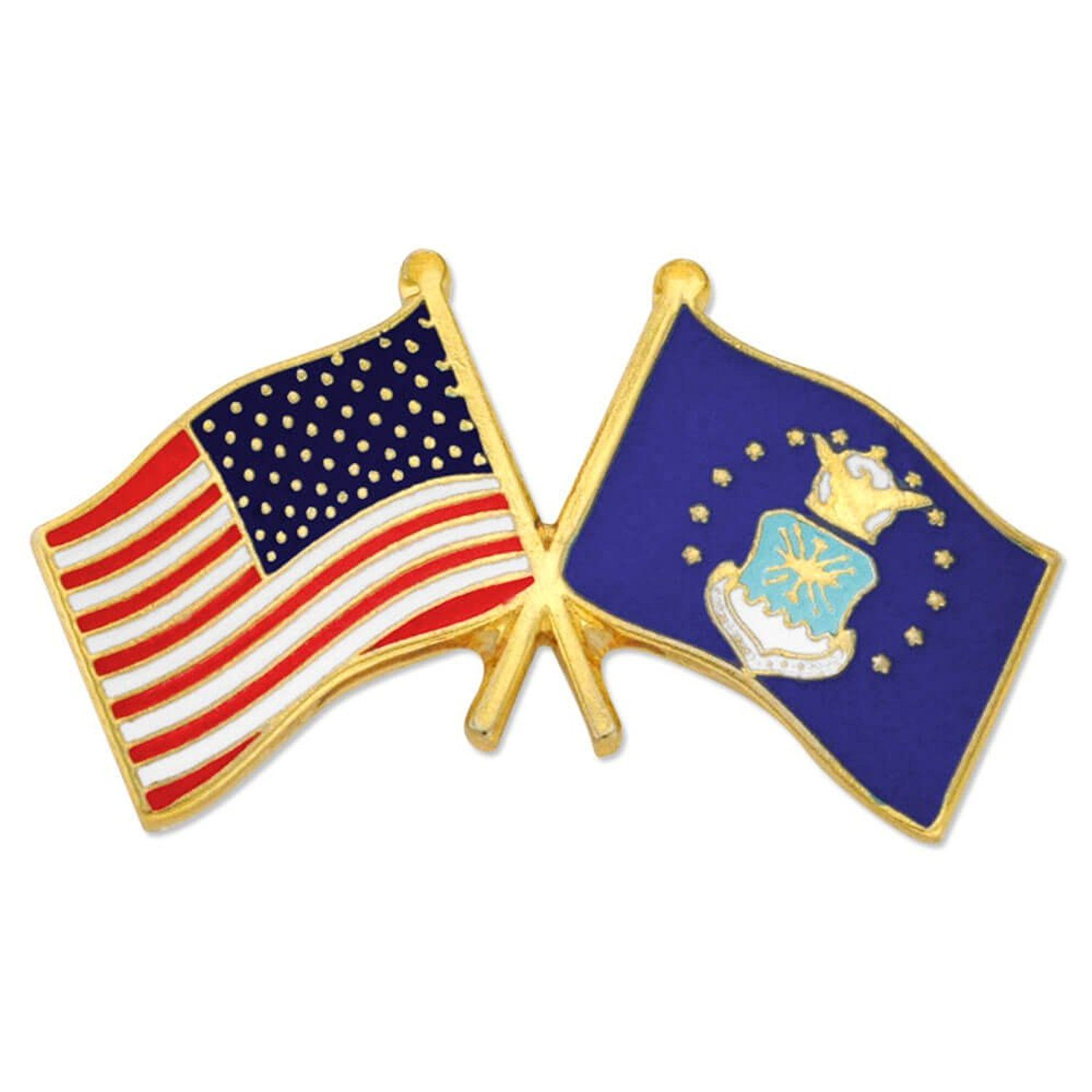 PinMart's USA and U.S. Air Force Crossed Friendship Flag