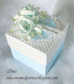 Witam Serdecznie Kolejne Pudelko Powstalo Tym Razem Na Chrzest Dla Chlopca Kwiaty Wykonane Z Foamiranu Card Box Explosion Box Diy Crafts For Girls