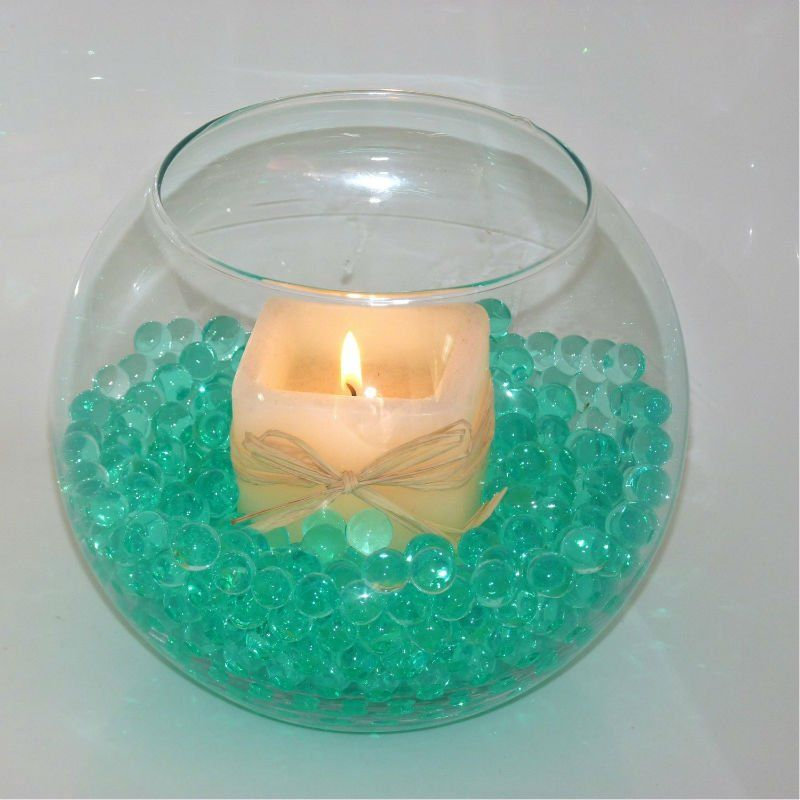 Water Bowl Decoration Glamorous Dark Green Water Beads Decorate Your Fish Bowl  Buy Water Beads Design Decoration