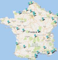 parc d attraction france carte La carte de France des parcs d'attractions et de loisirs | Parcs