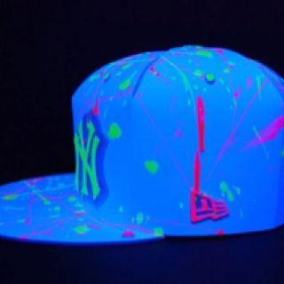 Blacklight Yankees Hat Yes Lord Neon Glow Hats For Men Yankee Hat