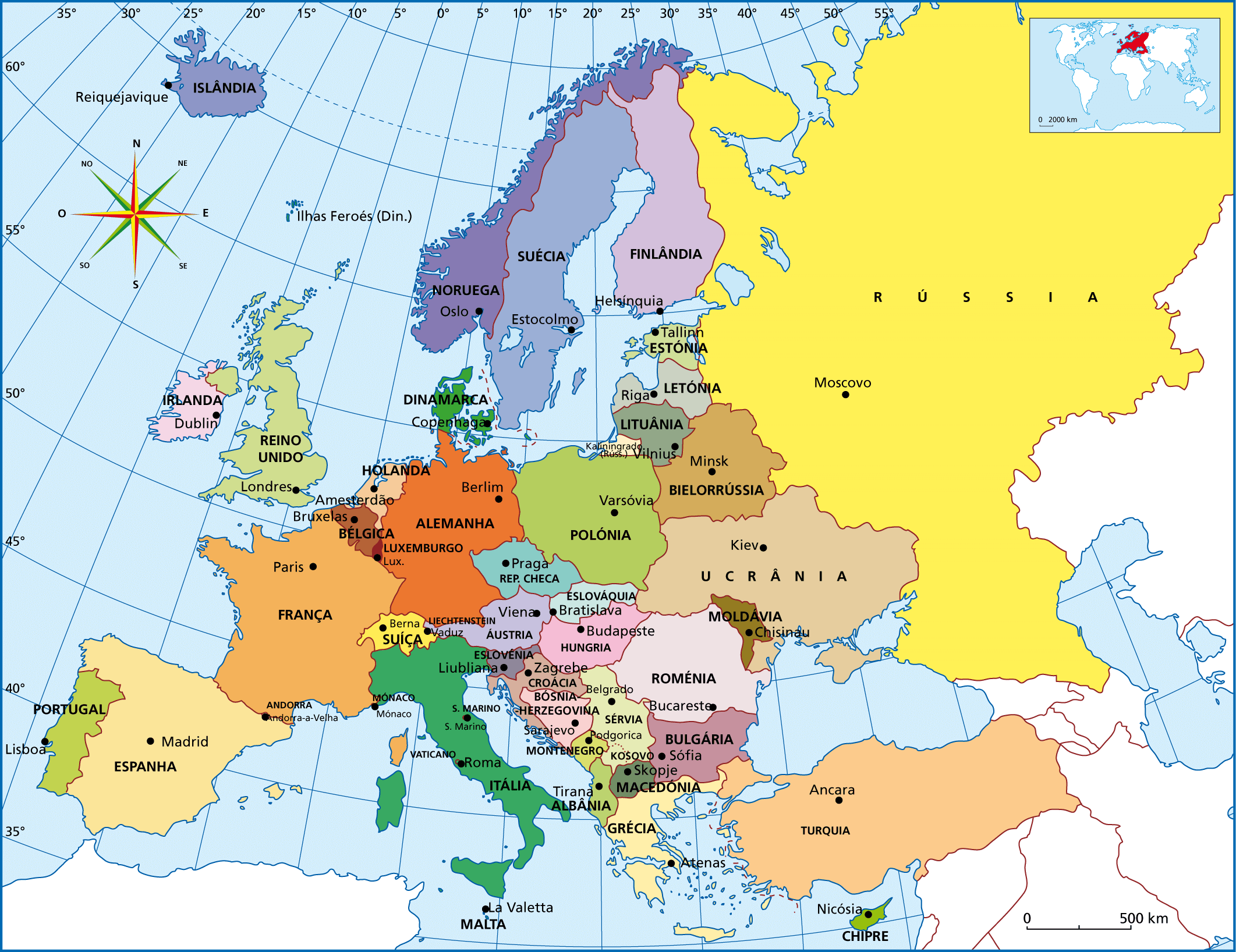 Resultado de imagen de mapa europa
